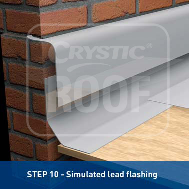 Step 10 - Simulated lead flashing