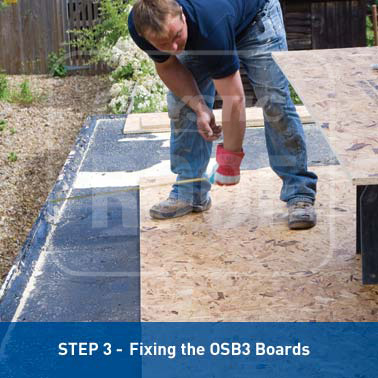 Step 3 - Fixing the OSB3 Boards