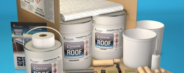 "Scott Bader Extends GRP Cold Applied Roofing Range with a Handy New Crystic® ""Roof in a Box"" Kit"